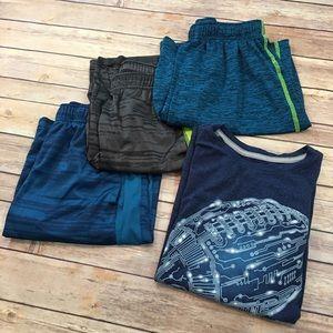 Set of 4 Old Navy Size Large Boys Short & T-Shirt